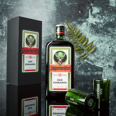 Personalised Jagermeister and Shot Glasses Gift Set - 70cl