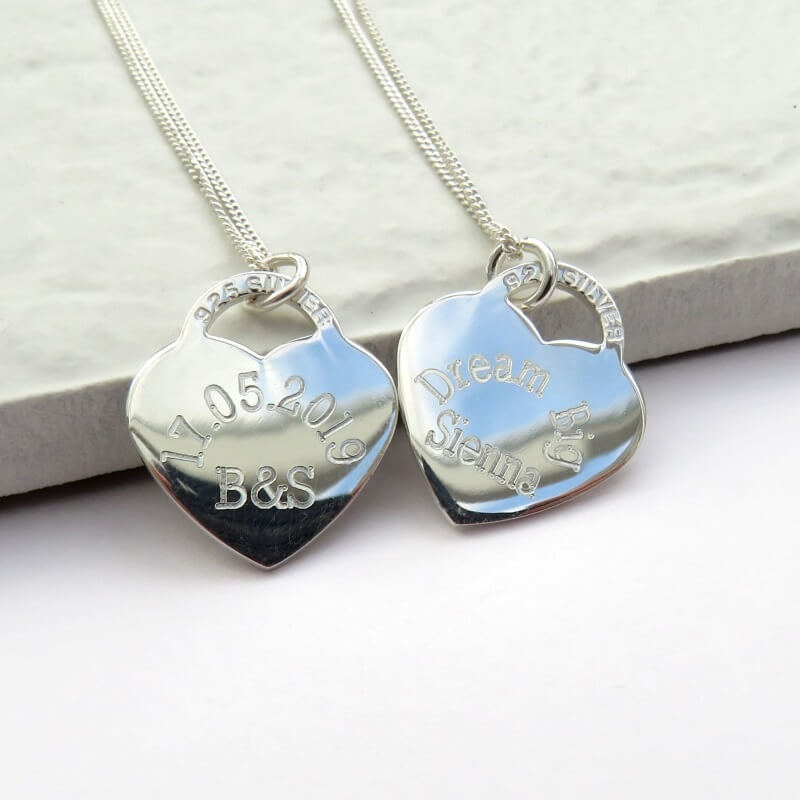 a3e87f62f867 Personalised Heart Tag Necklace - Buy from Prezzybox.com