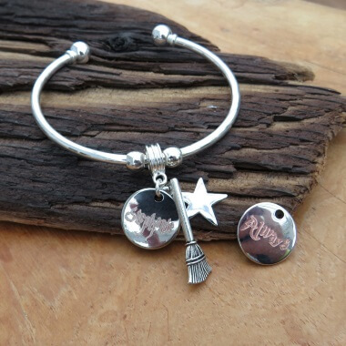 Personalised Harry Potter Inspired Disc Bangle