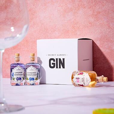 The Old Curiosity Secret Garden Gin Miniatures Gift Box
