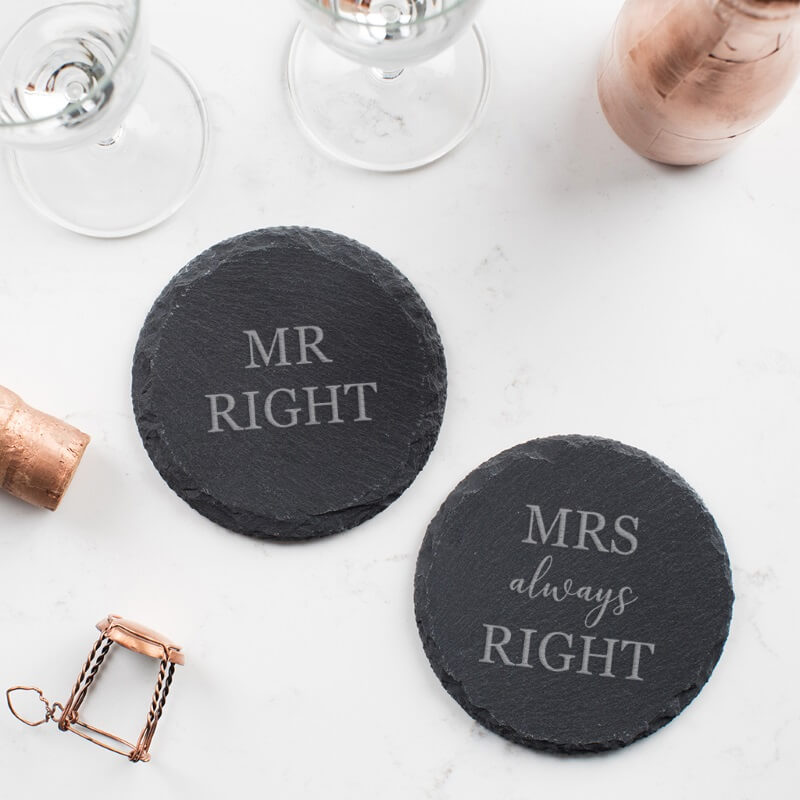 Couples Slate Coaster Set