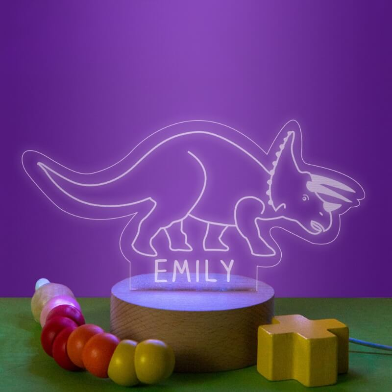 Personalised Children's Dinosaur Night Light