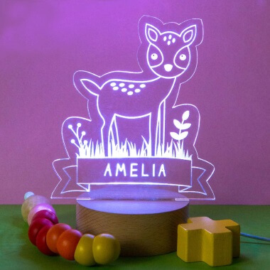 Personalised Children's Animal Night Light
