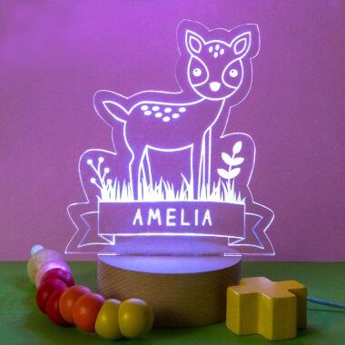 Personalised Children's Animal Night Light