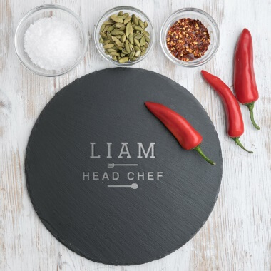 Personalised Head Chef Slate Serving Board