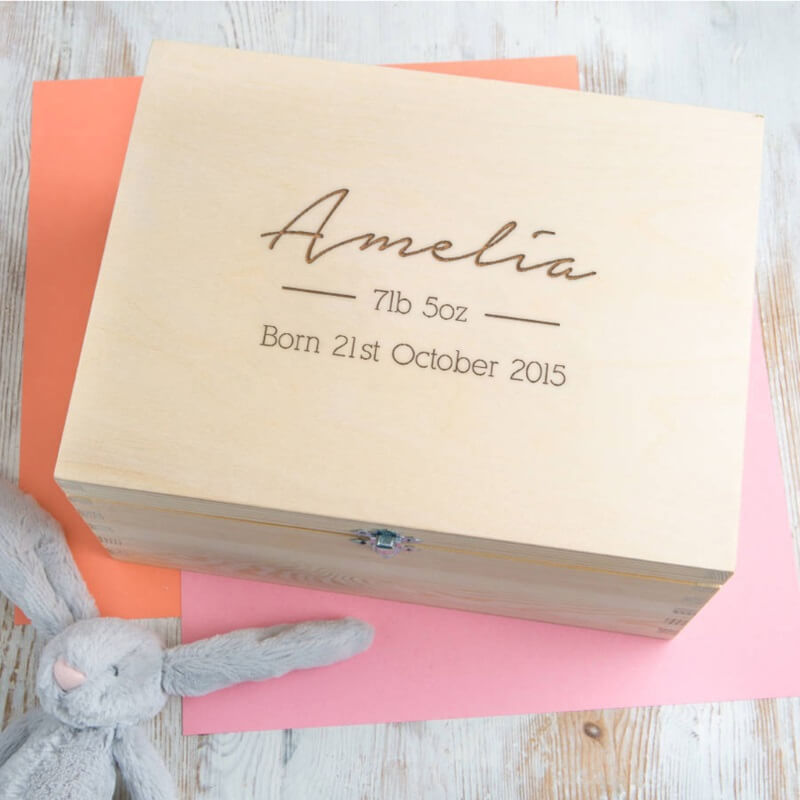 Keepsake Box Birthday personalised Memory Box  21st 30th 40th 50th