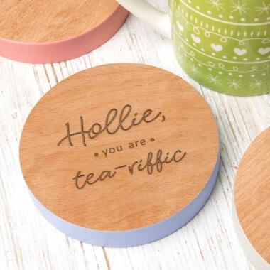 Personalised Tea-riffic Coaster