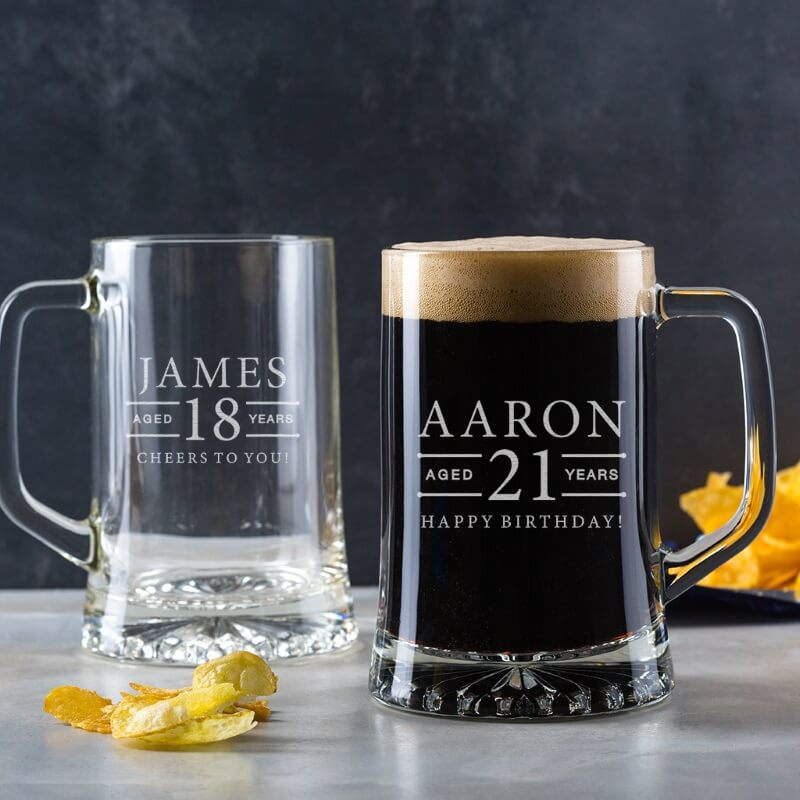 Personalised Birthday Beer Tankard