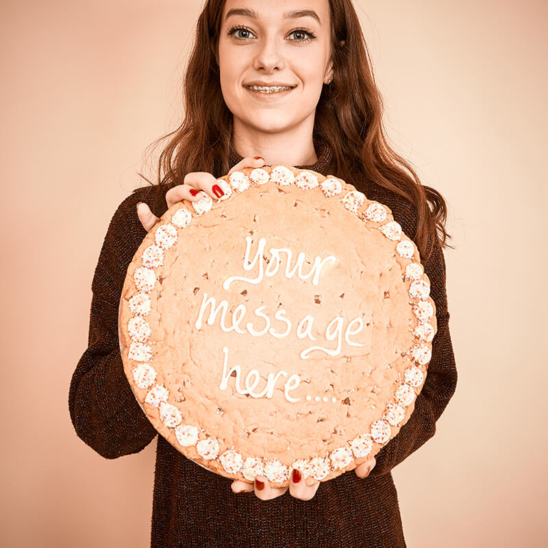 Personalised Large Chocolate Chip Cookie