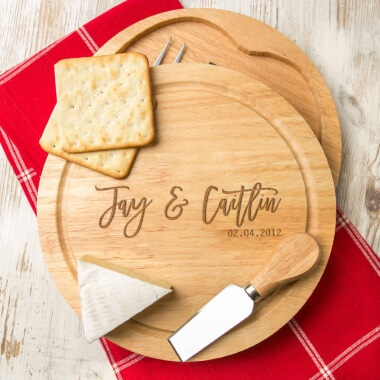 Personalised Date Cheese Board Set