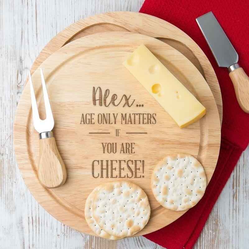 Personalised Birthday Cheese Board Set