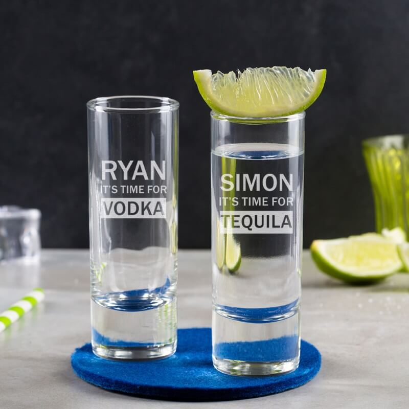 Personalised Tall Shot Glass