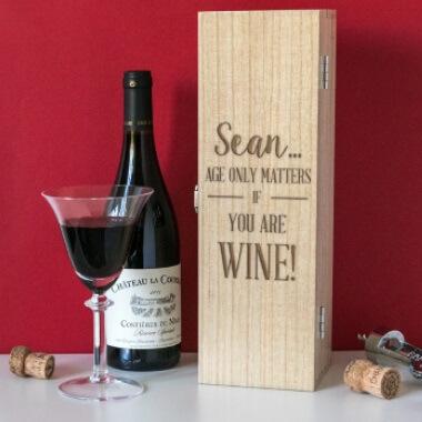 Personalised Birthday Wine Gift Box