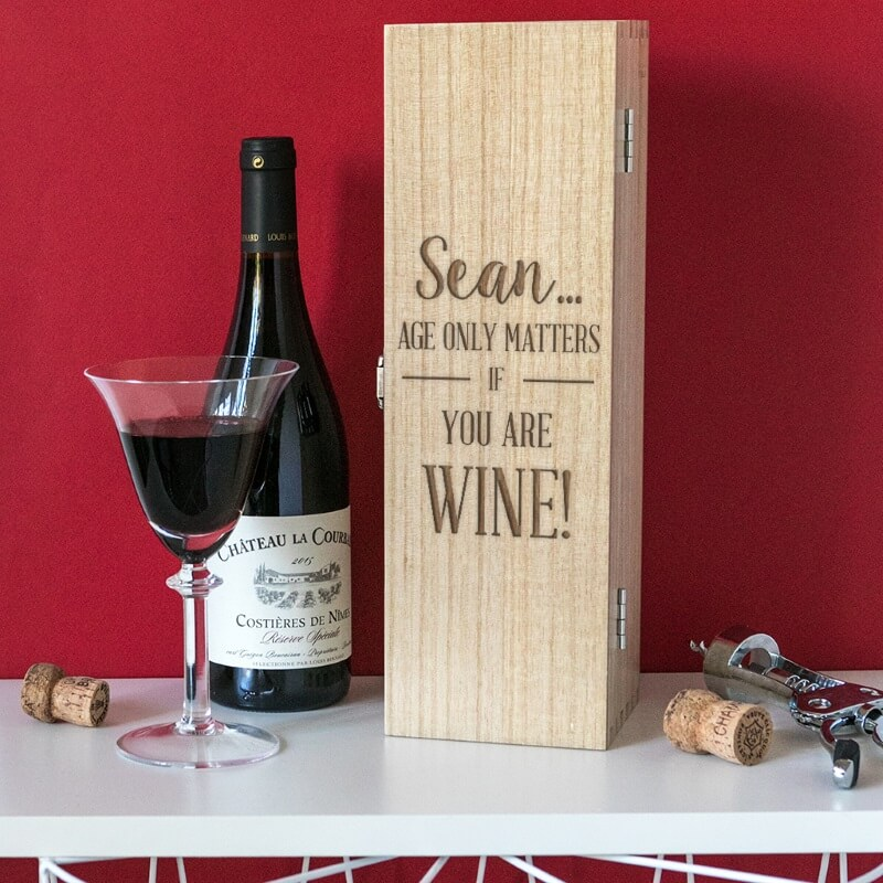 Personalised Birthday Wine Gift Box