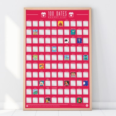 100 Dates Scratch Off Poster
