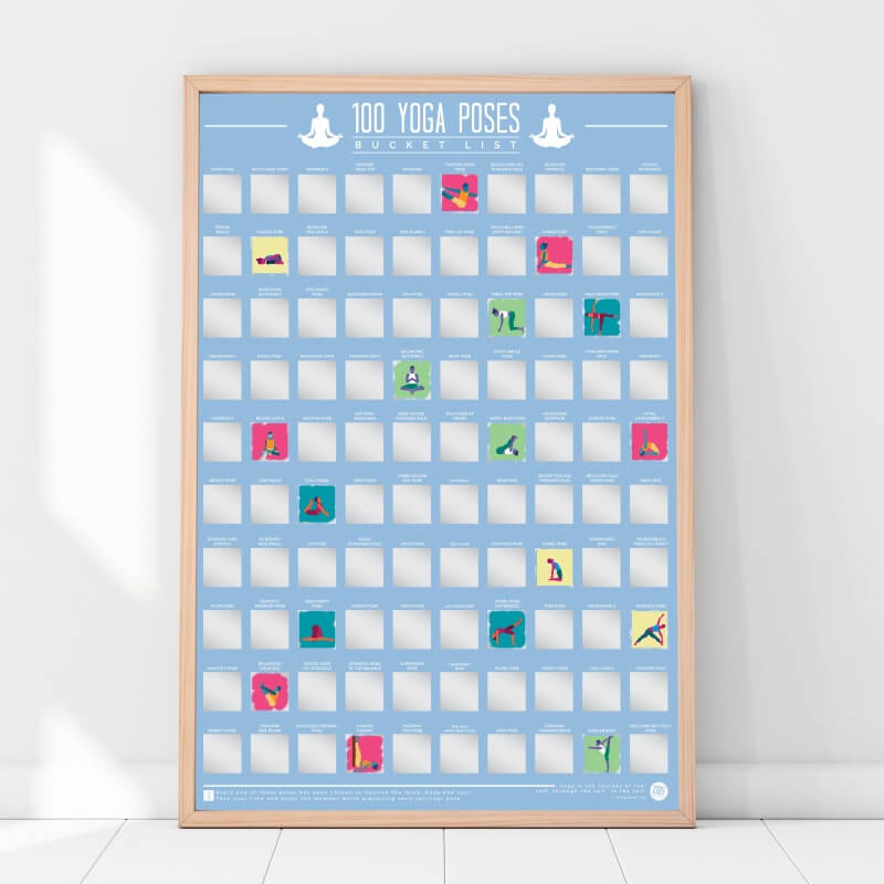 100 Yoga Poses Scratch Off Poster