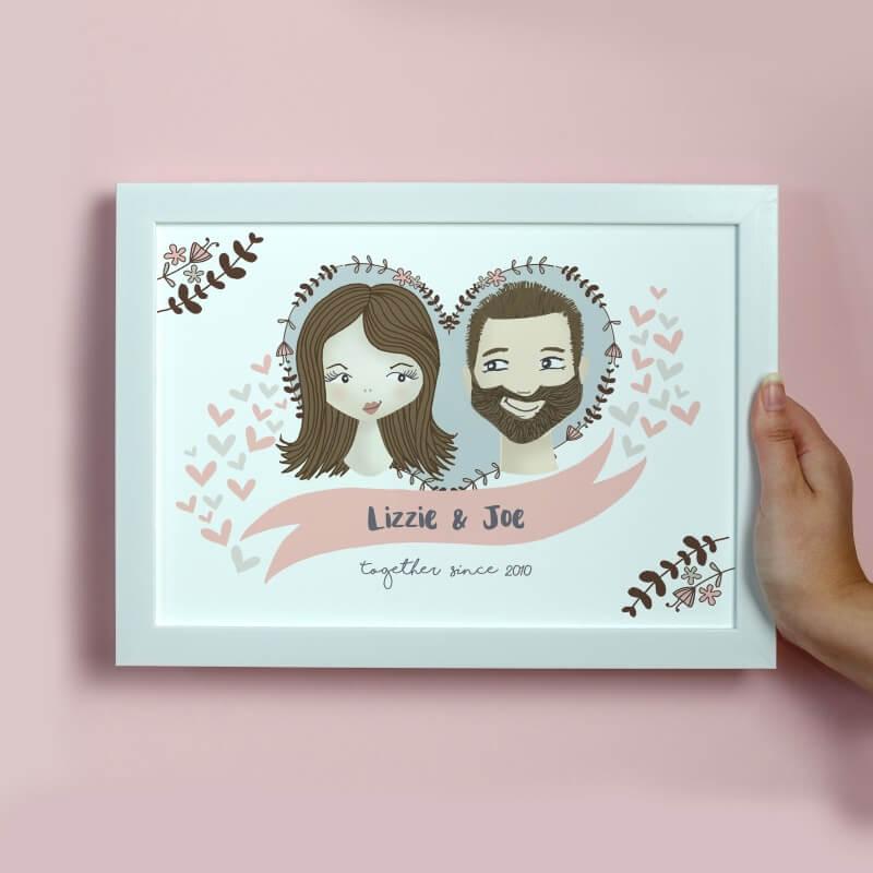 Personalised Illustrated Couple Print
