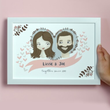 Personalised Illustrated Couple Print