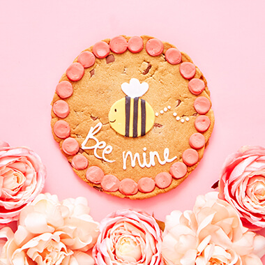 Personalised Bee Mine Chocolate Chip Cookie