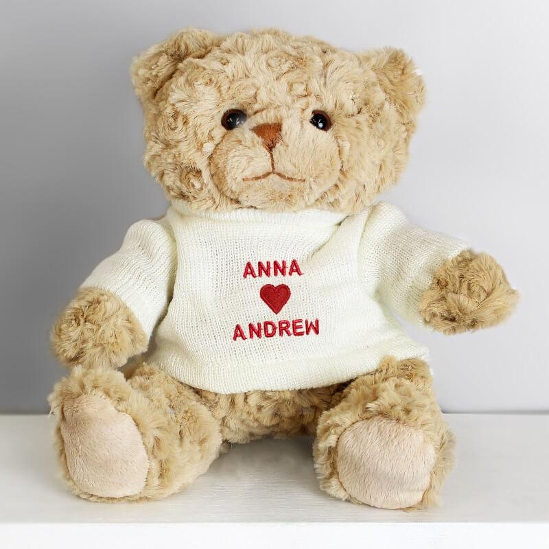 Personalised Love Heart Teddy