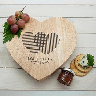 Personalised Engraved Heart Shaped Cheese Board
