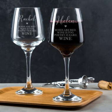 Personalised Poetry Is Hard Wine Glass