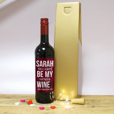 Personalised Always Be My Partner Wine Gift Set