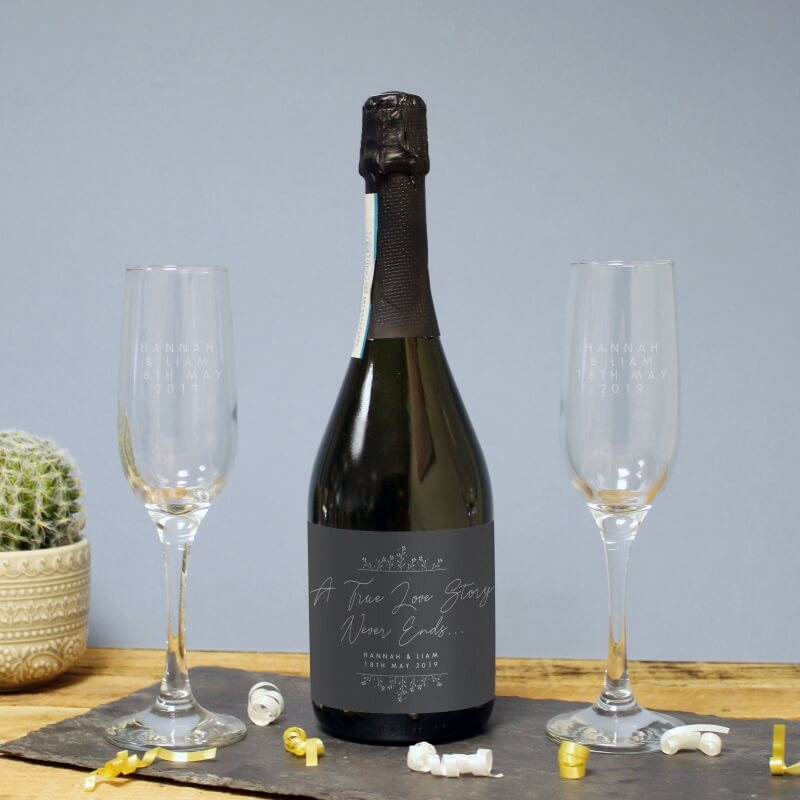 Personalised True Love Story Prosecco Gift Set