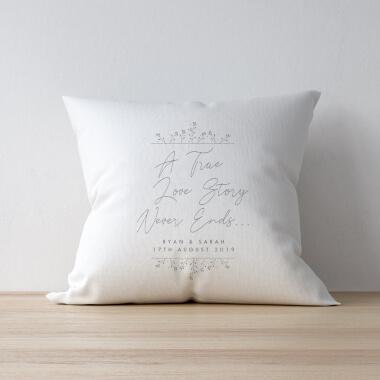 Personalised True Love Story Cushion