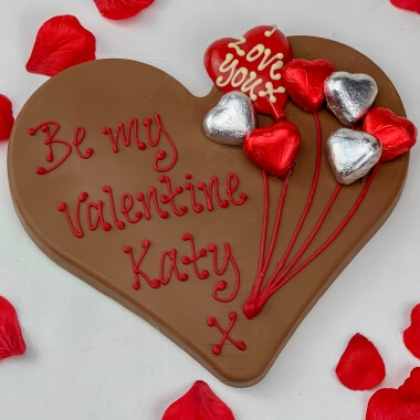 Personalised Chocolate Valentines Heart