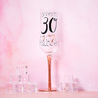 30th Birthday Champagne Flute