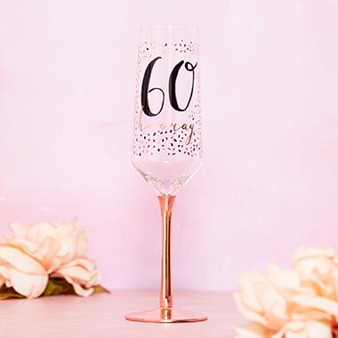 60th Birthday Champagne Flute