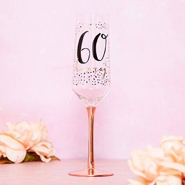 60th Birthday Champagne Flute