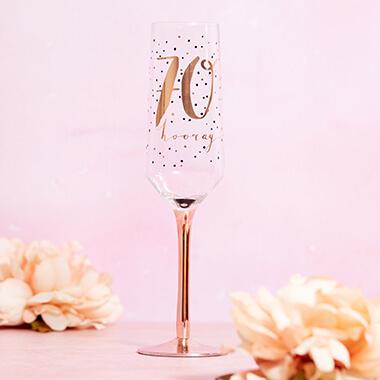 70th Birthday Champagne Flute