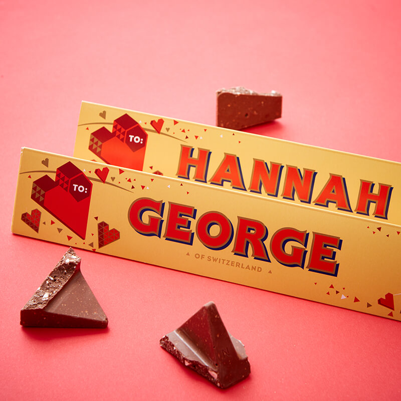 Personalised Valentine's Toblerone Bar