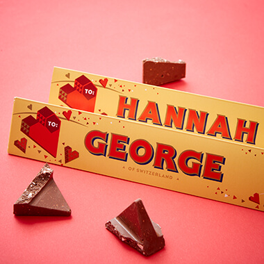 Personalised Heart Toblerone Bar