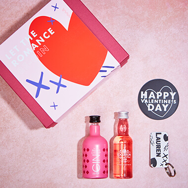 Personalised Let the Romance Be-Gin Gift Set