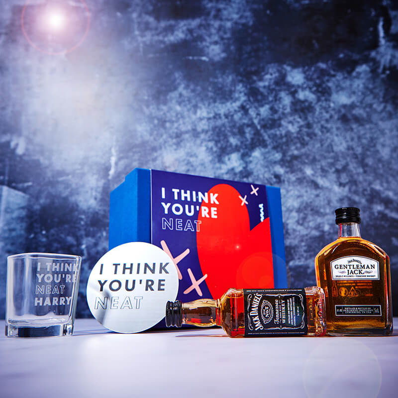 Personalised 'I think you're Neat' Whisky Gift Set
