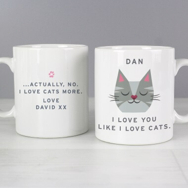 Personalised Love Cats More Mug