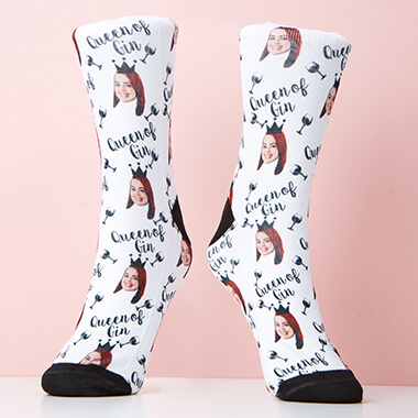 Personalised Queen of Gin Socks