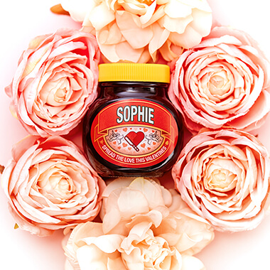 Personalised Valentines Marmite Jar