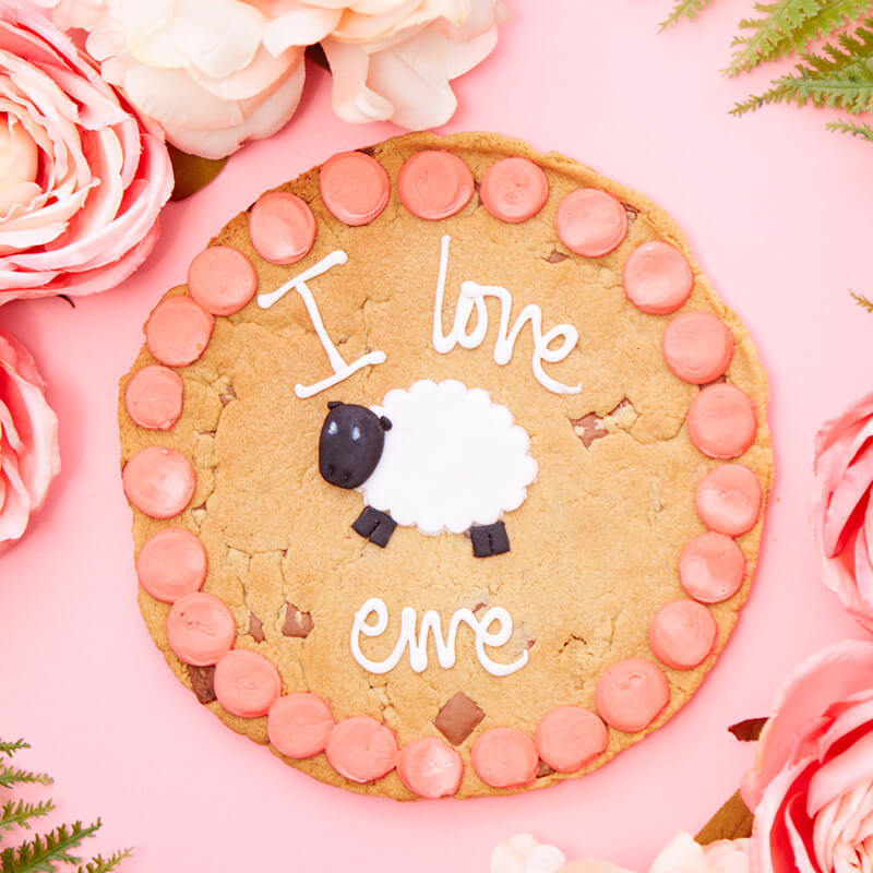 Personalised I Love Ewe Chocolate Chip Cookie