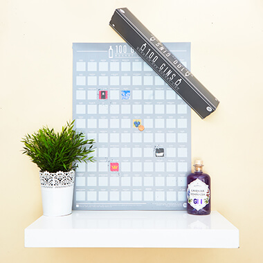 100 Gin Scratch Off Poster