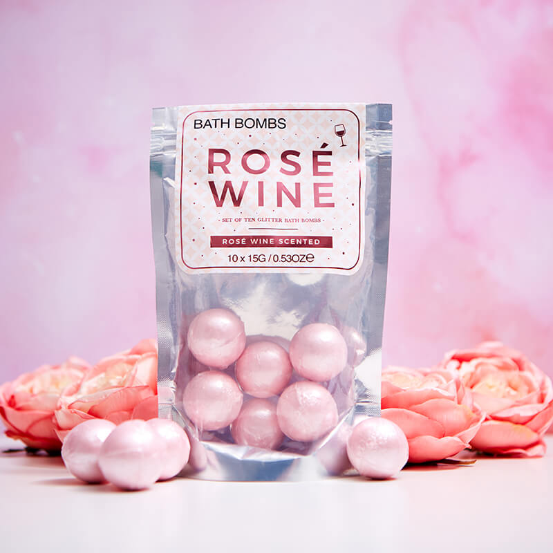 Rose Wine Bath Bombs