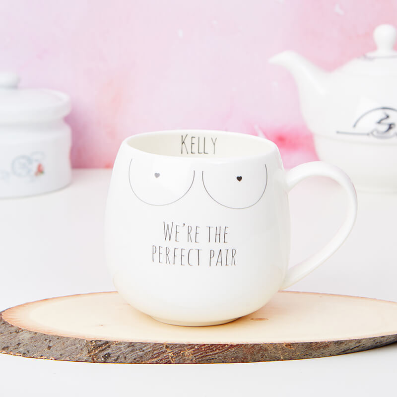 Personalised Boobies Mug