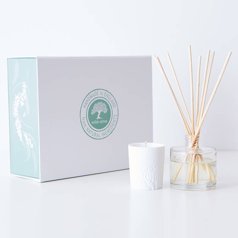 White Fig Room Diffuser and Candle Set