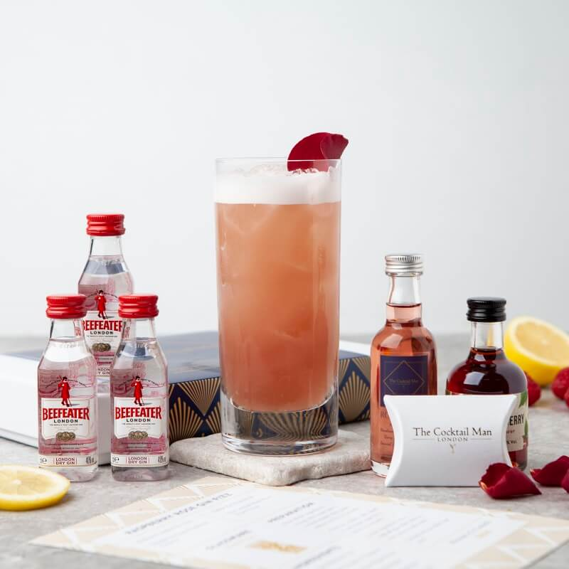 Raspberry Rose Gin Fizz Cocktail Kit