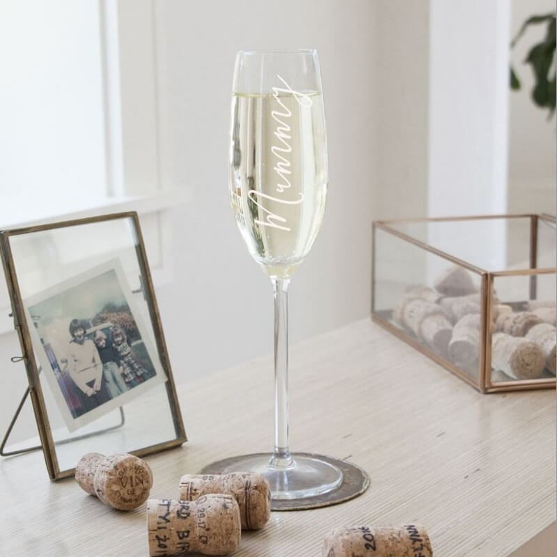 Mummy Champagne Glass