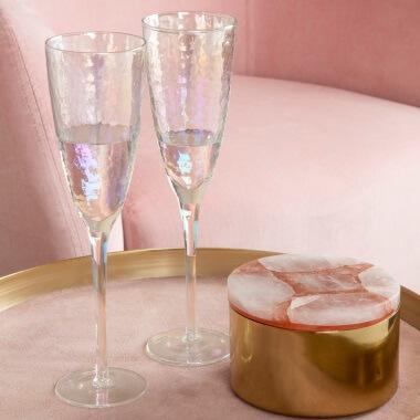 Iridescent Champagne Glasses - Set Of 4