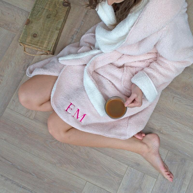 Personalised Reversible Hooded Dressing Gown